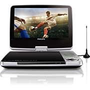 Bærbar DVD og digitalt TV