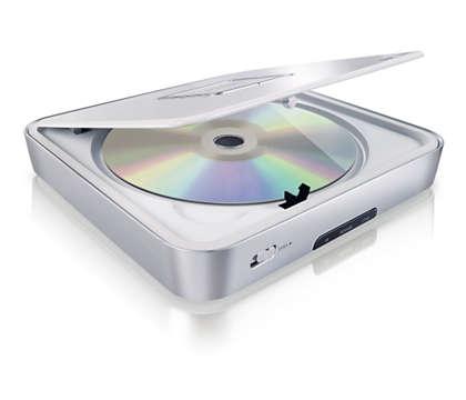 Przenośny odtwarzacz DVD do wszystkich płyt