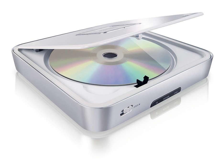 Leitor de DVD portátil para todos