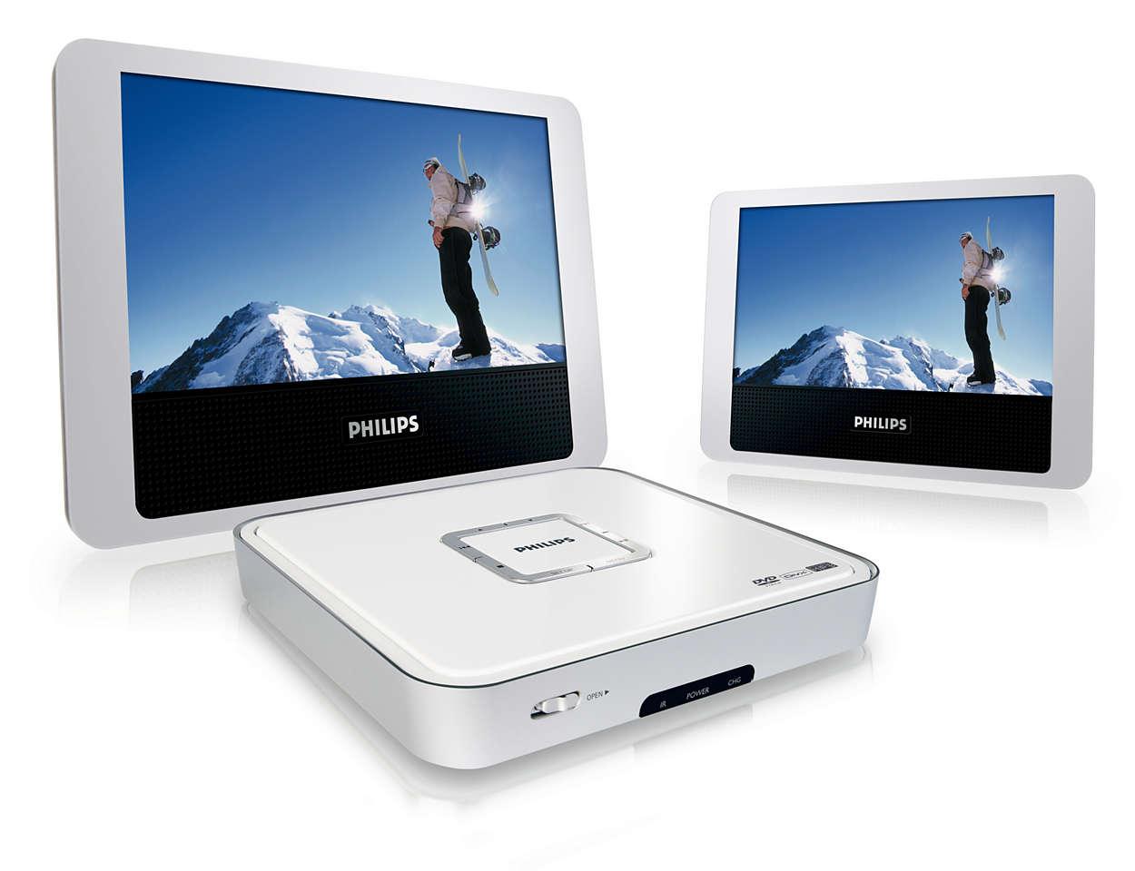 Fördubbla din DVD- och DivX®-filmunderhållning
