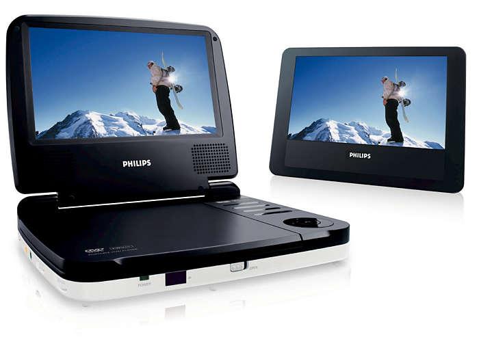 tragbarer dvd player pet719 12 philips. Black Bedroom Furniture Sets. Home Design Ideas