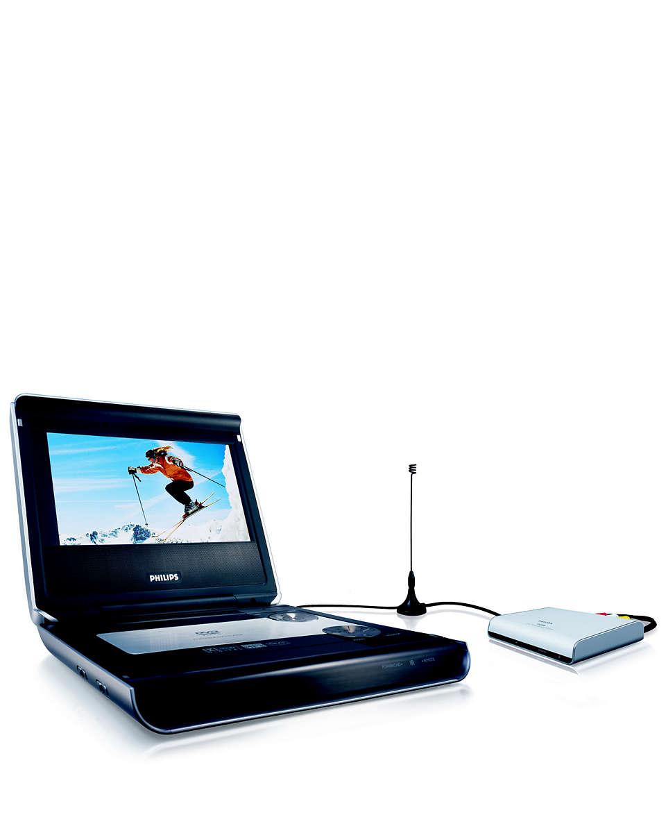 Combiné lecteur de DVD portable