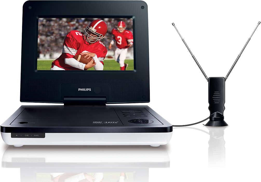 Profitez d'un téléviseur numérique et d'un lecteur DVD portatifs
