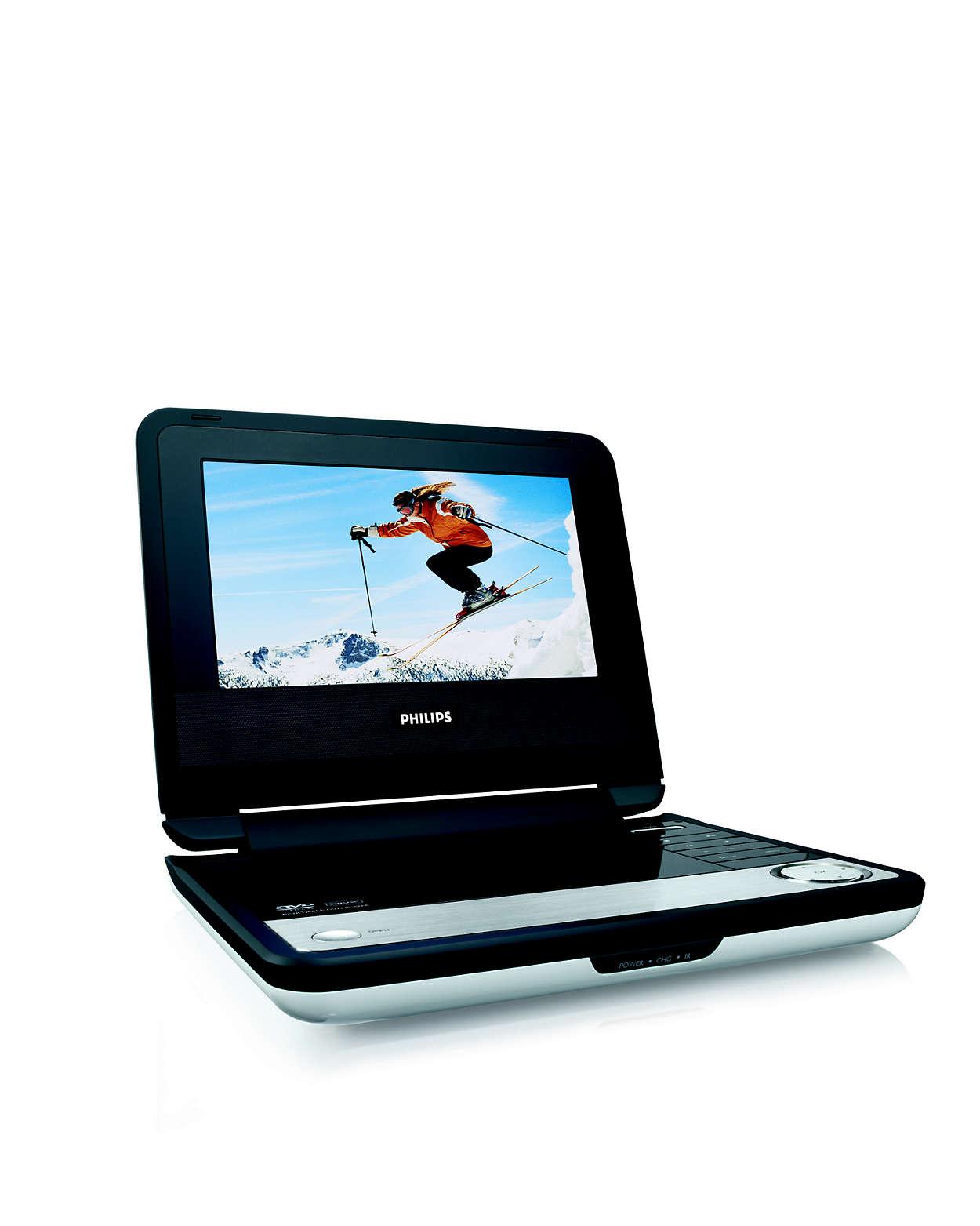 DVD- og DivX®-filmer på farten