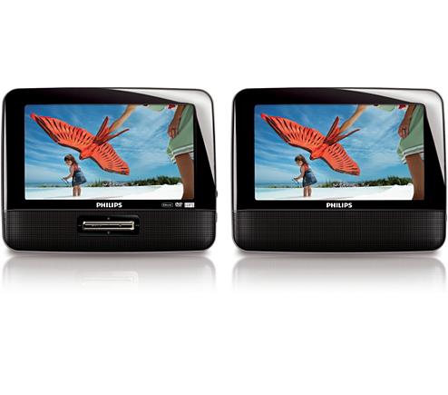 tragbarer dvd player pet7402d 12 philips. Black Bedroom Furniture Sets. Home Design Ideas