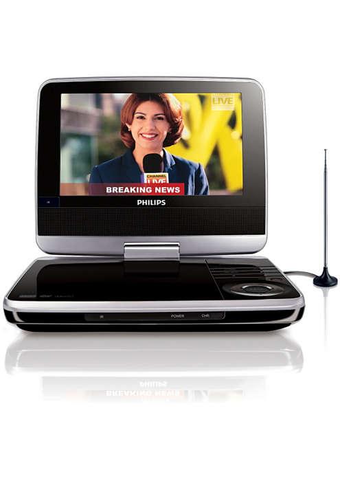Sledujte obľúbené TV relácie a disky DVD kdekoľvek