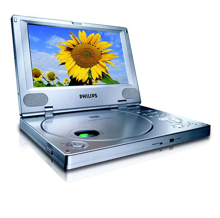 Desfrute dos seus filmes de DVD em movimento