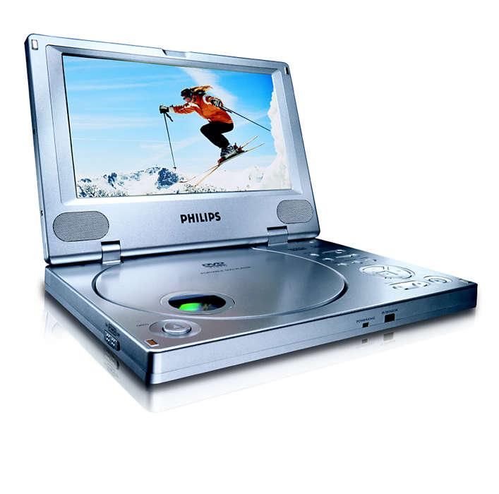 Смотрите DVD-фильмы и цифровое видео в поездках