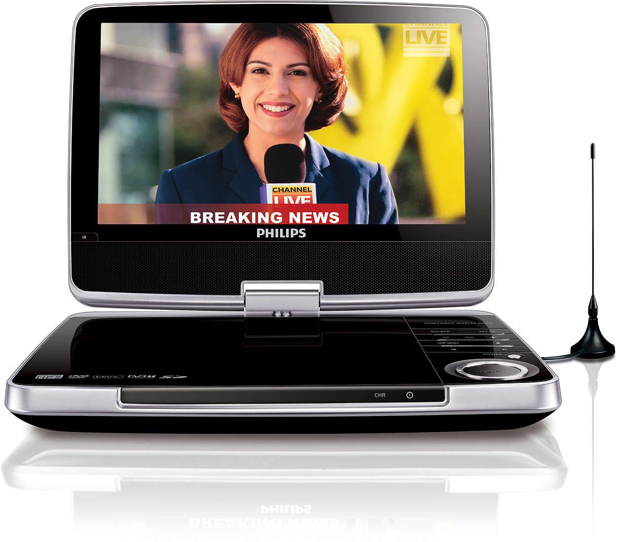 Sledujte obľúbené TV programy a disky DVD kdekoľvek