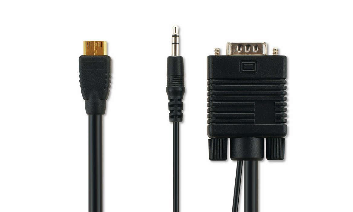 VGA-kabel til PC-tilslutning