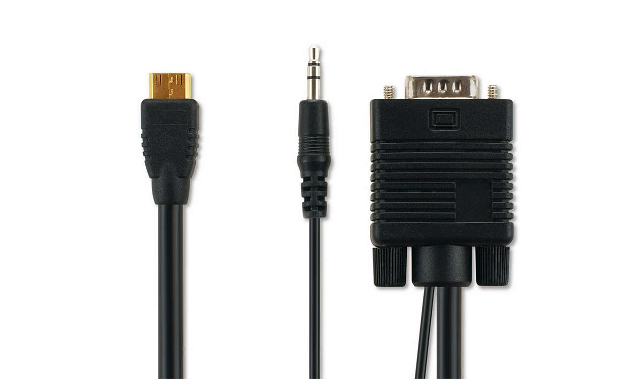 VGA-kabel för datoranslutning
