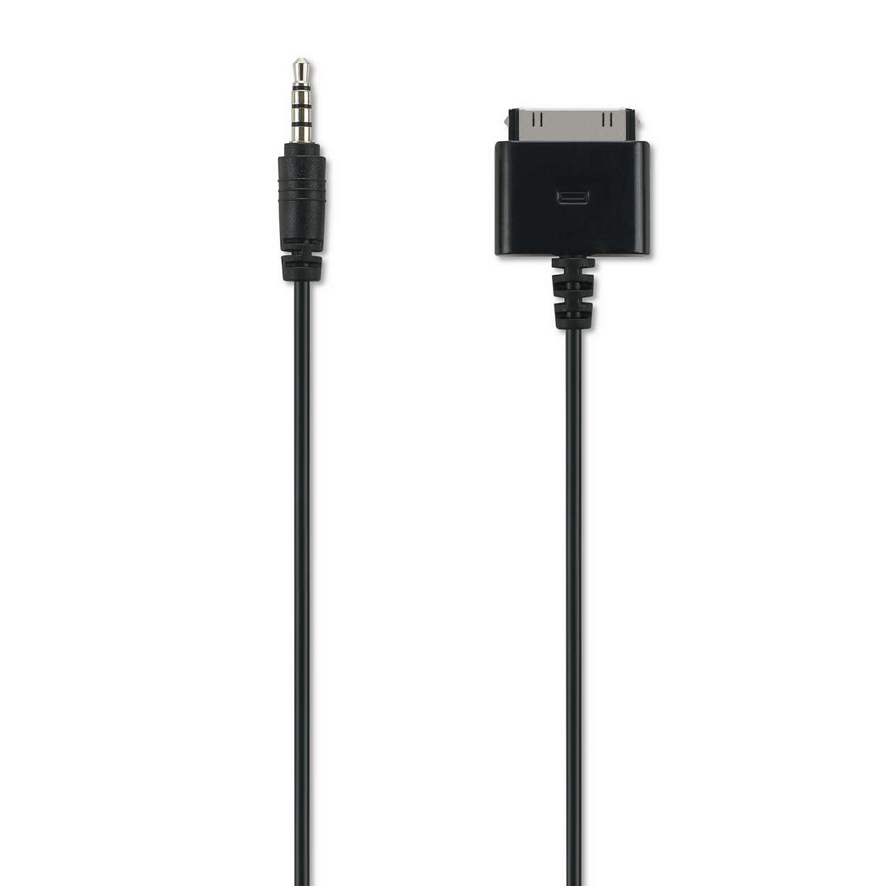 Audio-video kábel pre zariadenie iPhone/iPod/iPad