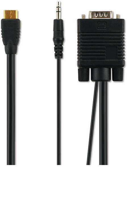 Bilgisayar bağlantısı için VGA kablosu