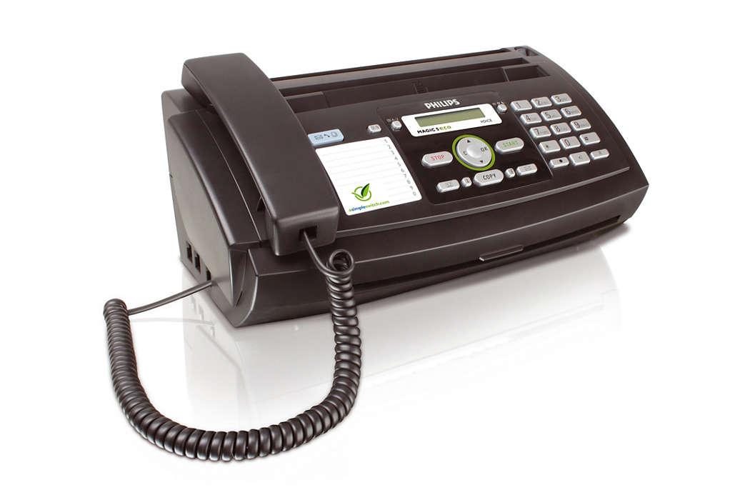 Prin fax, la telefon