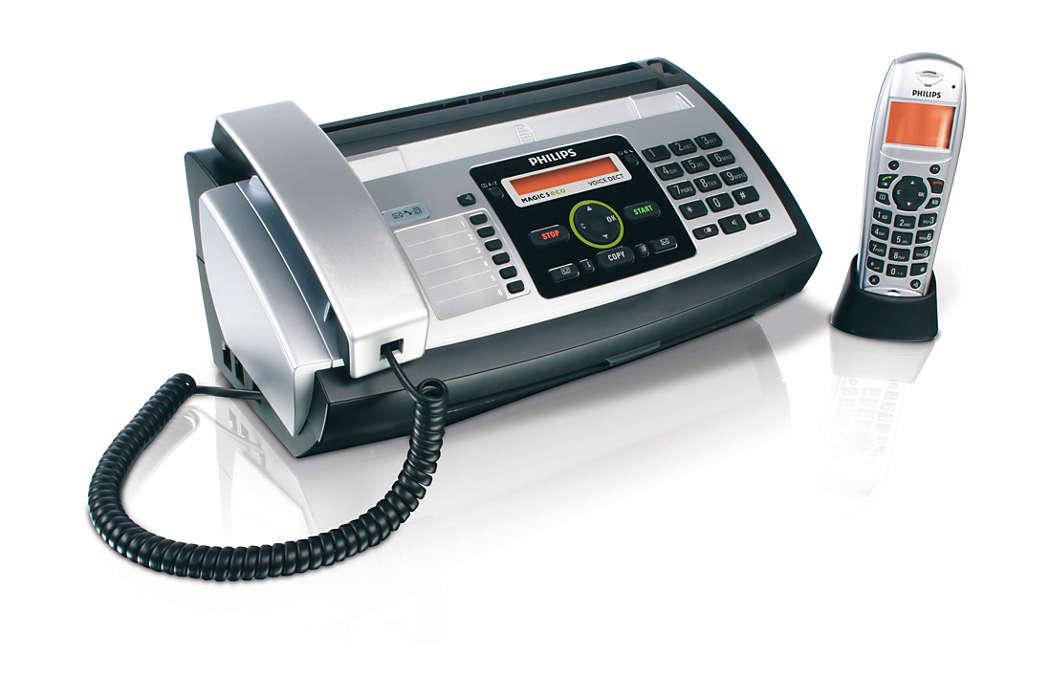 Sagen Sie es mit einem Fax