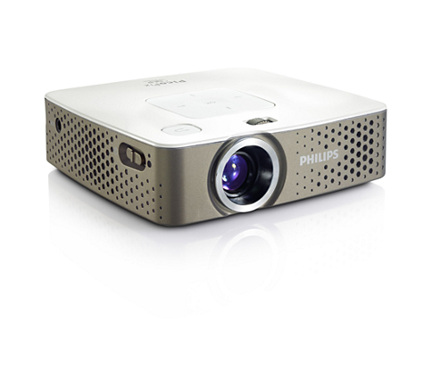 Philips PPX3414 LED Pocket Projector - 140 Lumens (Requires Dark Room) - 854 x 480 pixels