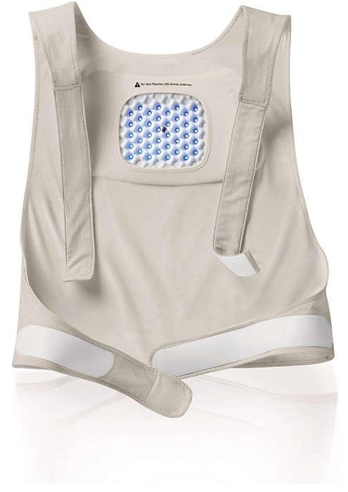 Maintient confortablement en place le patch pour haut du dos