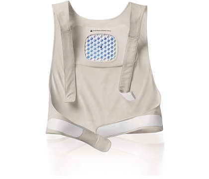 Comfortably holds patch for upper back