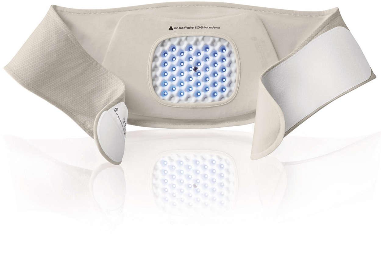 Comfortabele patchhouder voor de onderrug