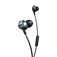 PRO6305BK/00  Į ausis dedamos ausinės su mikrofonu