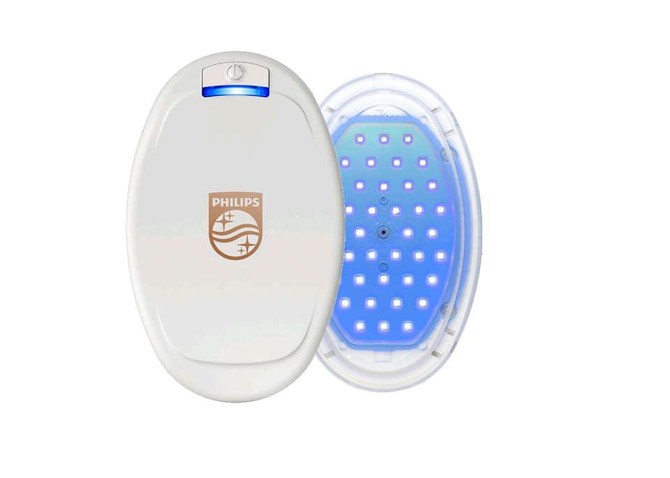 Blaue LED-Lichttherapie.