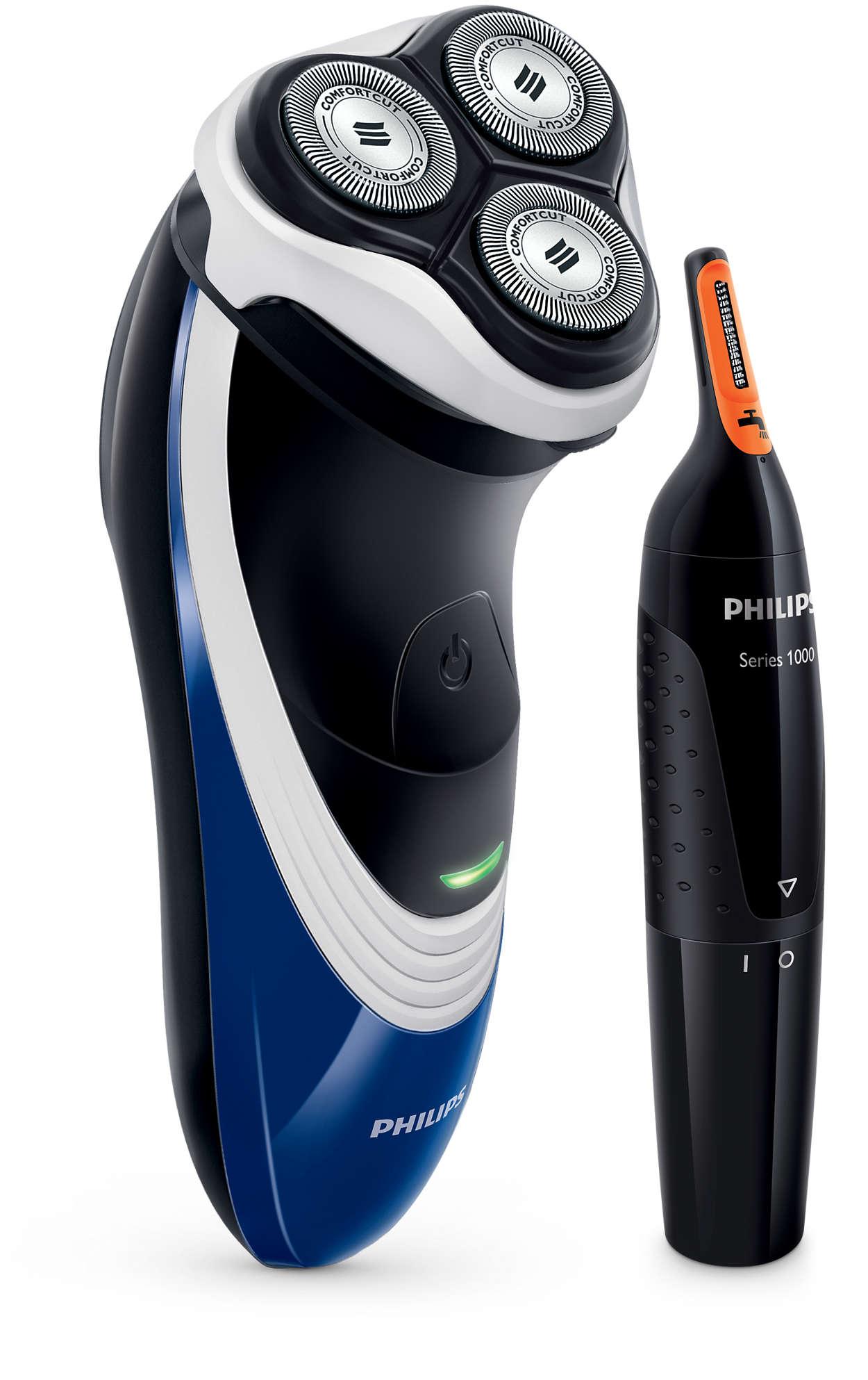 De kracht van 2 in 1: snel scheren en krachtig trimmen