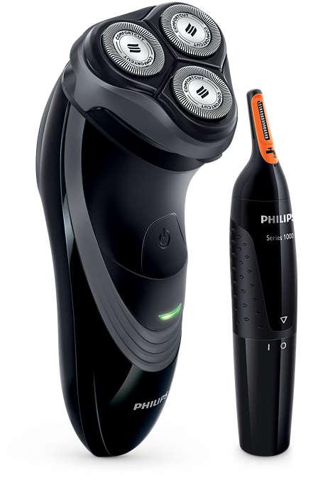 De kracht van 2 in 1: snel scheren en trimmen