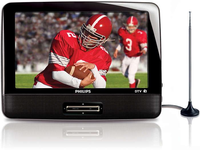 Enjoy portable digital TV and FM radio