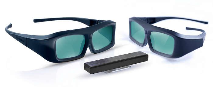 Bucuraţi-vă de 3D pe televizorul dvs. Philips 3D Ready