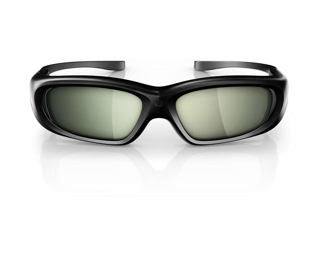 lunettes 3d active pta508 00 philips. Black Bedroom Furniture Sets. Home Design Ideas