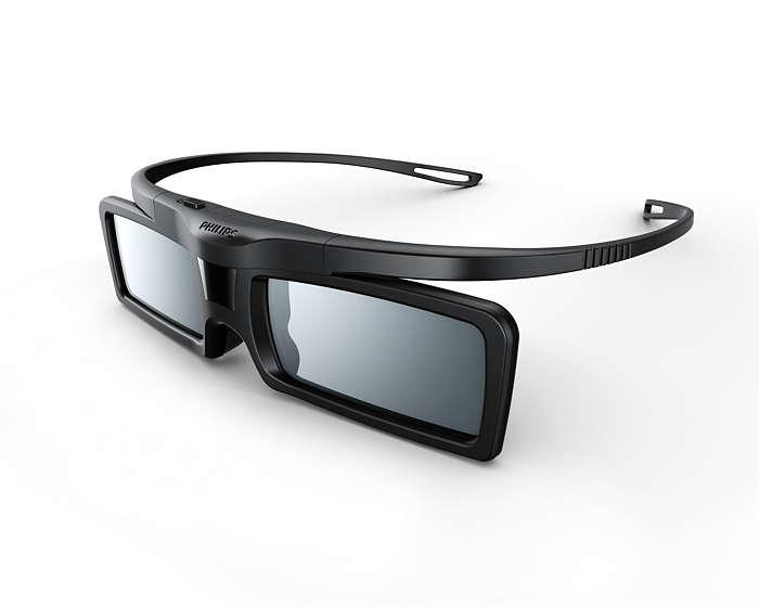 lunettes 3d active pta529 00 philips. Black Bedroom Furniture Sets. Home Design Ideas