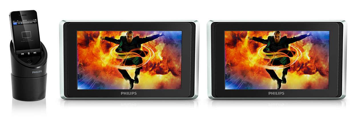 Ciesz się filmami z urządzeń iPod/iPhone/iPad w samochodzie