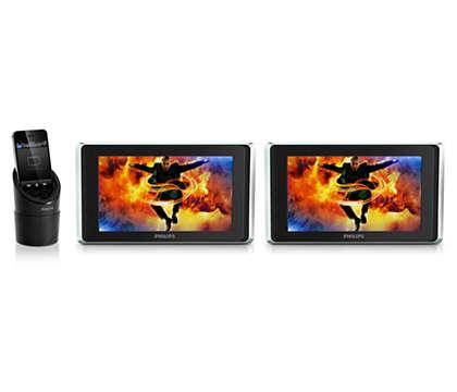 Наслаждайтесь просмотром видео на iPod/iPhone/iPad в автомобиле
