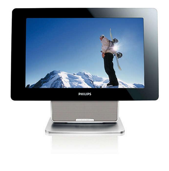 Handige draagbare hybride TV