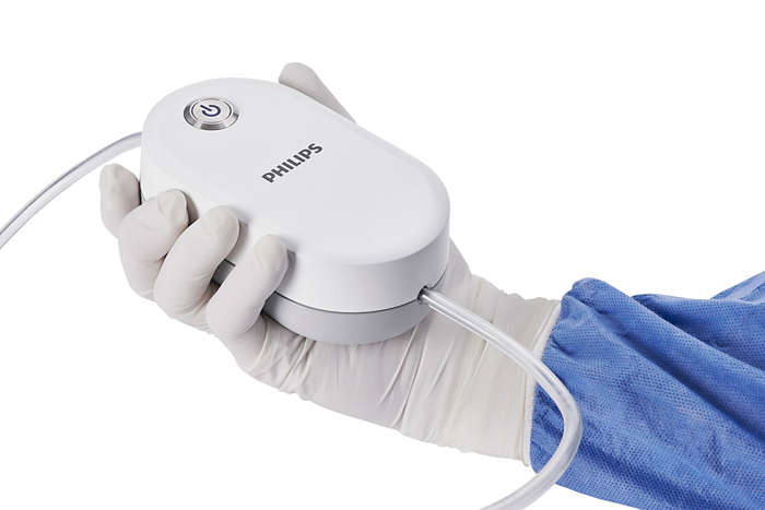 Philips QuickClear mechanical thrombectomy system in hand