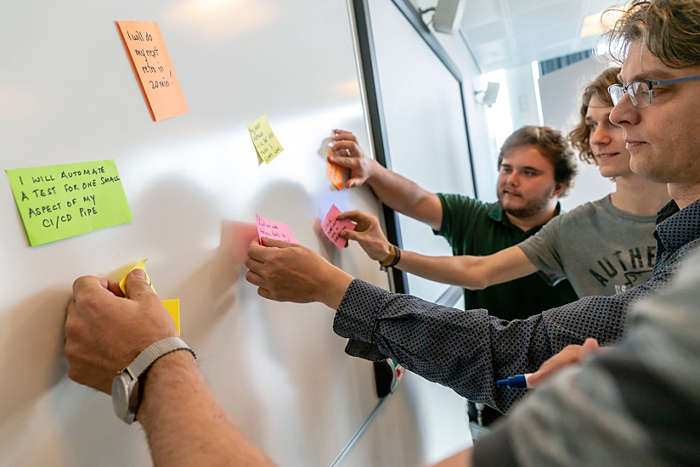 Philips global start-up collaboration program post-its