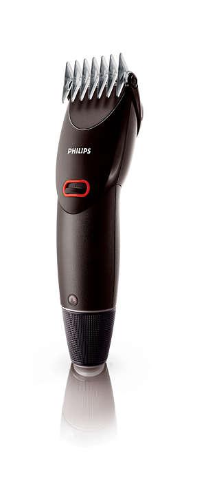 Очень простая в использовании машинка для стрижки волос