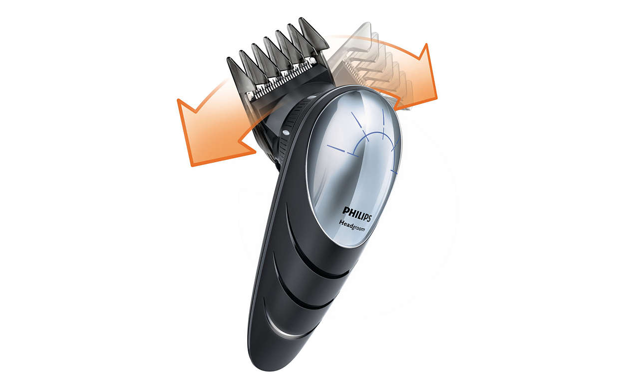 Do it yourself hair clipper qc557013 philips cut your own hair even in hard to reach areas solutioingenieria Choice Image