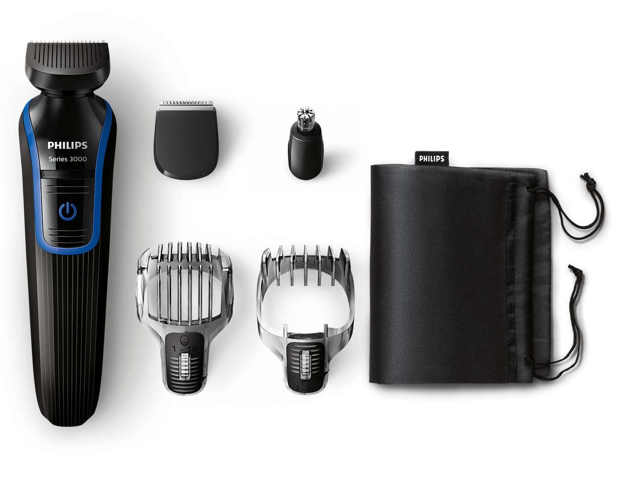 multigroom series 3000 tondeuse barbe et cheveux 5 en 1 qg3330 15 philips. Black Bedroom Furniture Sets. Home Design Ideas