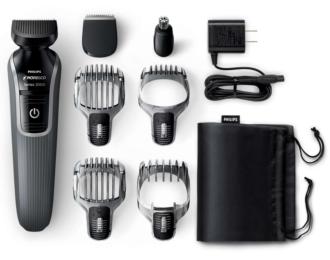 multigroom 3300 all in one 7 in 1 grooming kit qg3331 49 norelco. Black Bedroom Furniture Sets. Home Design Ideas