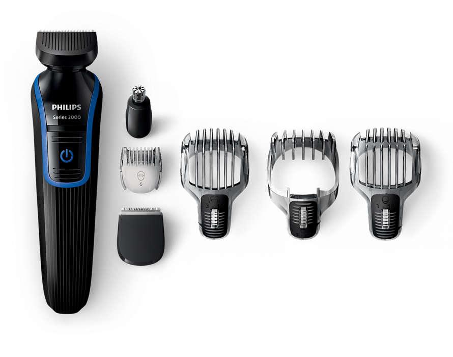 Aparador de barba, cabelo e pêlos corporais tudo em um