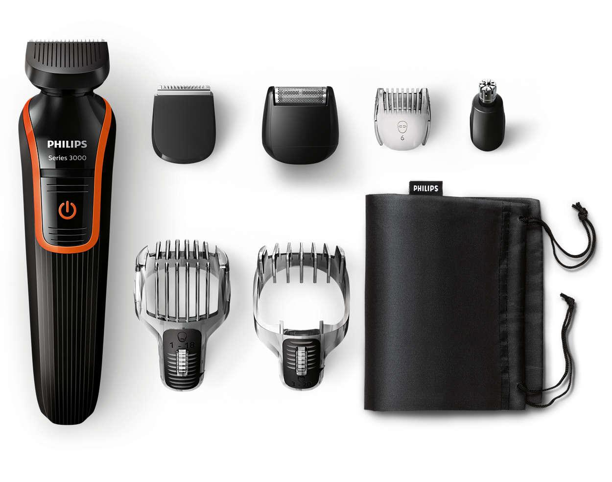 multigroom series 3000 tondeuse barbe et cheveux 7 en 1 qg3341 16 philips. Black Bedroom Furniture Sets. Home Design Ideas