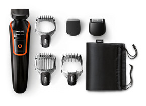 Philips MULTIGROOM Series 5000 Grooming kit QG3347 15 All-in-one FACE HEAD Styling 3 attachments 3 combs 48 integrated length settings 35mins cordless use 10h charge
