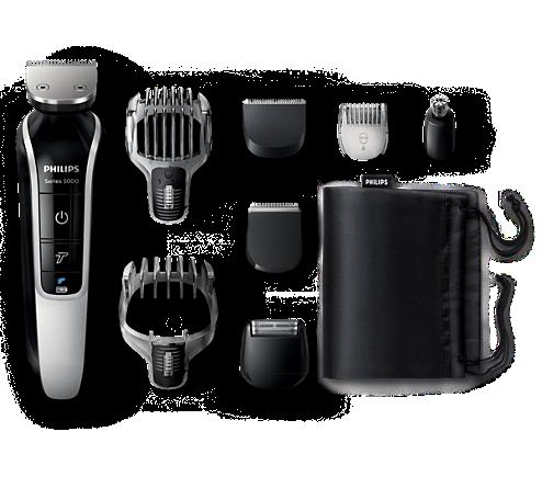 Multigroom series 5000 Viacúčelový zastrihávač fúzov a vlasov Pro ... e05a72ca242