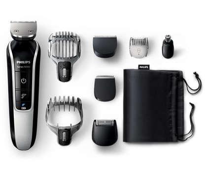 Komplett skägg- och hårtrimmer