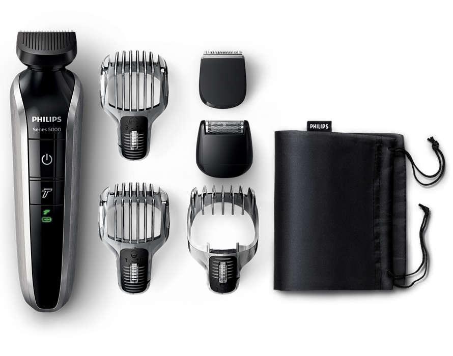 All-in-one-trimmeri parran, hiusten ja ihokarvojen viimeistelyyn