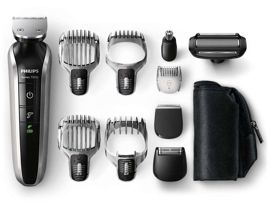 Máquina para cortar cabello, barba y vello corporal todo en uno