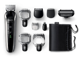 Philips MULTIGROOM Series 7000 Grooming kit QG3387 15 All-in-one HEAD-TO-TOE Styling 5 attachments 4 combs 58 integrated length settings 50mins cordless use 1h charge with Shower proof and Turbo power