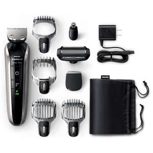 Norelco Multigroom 7100 Max performance head to toe Grooming Kit