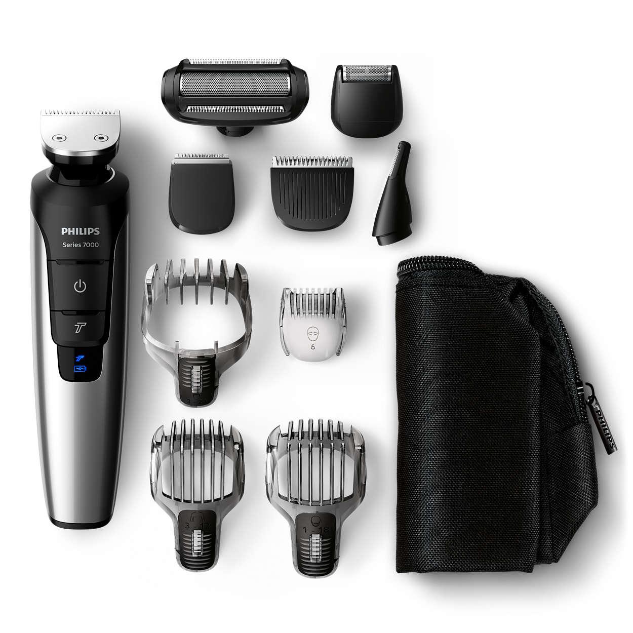 Recortador de barba, pelo y cuerpo de iones de litio todo en uno